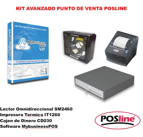 Kit Punto de Venta, posline, barware, avanzado, sm2460, Mybusinesspos, it1260, cd030